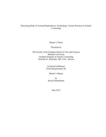 genetic counseling thesis This thesis is dedicated to individuals affected with psychiatric illness  her  family, genetic counseling cohort, and friends who supported her throughout her.