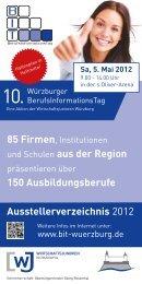 Ausstellerverzeichnis 2012 und Schulen aus der Region 150 ...