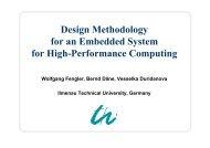 Design Methodology for an Embedded System for ... - TU Ilmenau