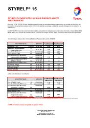 STYRELF® 15 - total raffinage marketing