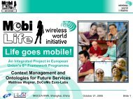 Life goes mobile! - Wireless World Initiative