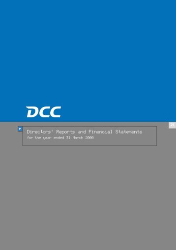 Directors' Reports and Financial Statements - DCC plc