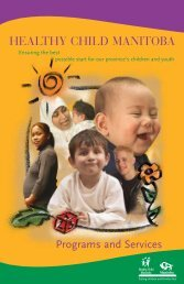 Healthy Child Manitoba: Programs and Services - Government of ...