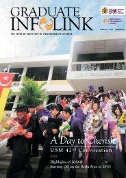 A Day to Cherish - Institute of Graduate Studies - USM