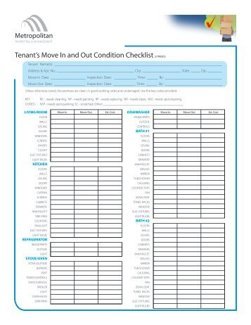 residential moving checklists