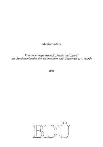 Memorandum - Transforum