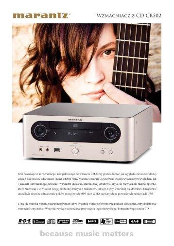 Wzmacniacz z CD CR502 - AUDIO KLAN