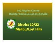 District 10/22 - Los Angeles County Disaster Communications Service