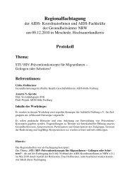 Protokoll - Verband der AidskoordinatorInnen NRW eV