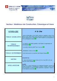 Secteur : Matériaux de Construction, Céramique et Verre - Tunisian ...