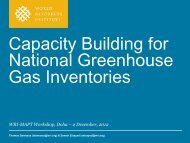 Capacity Building for National Greenhouse Gas Inventories - World ...