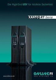 Datenblatt XANTO RT-Serie - Online USV Systeme