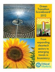 Green Transition Scoreboard® 2012: From Expanding Cleantech ...