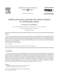 Stability and accuracy of periodic flow solutions obtained by a POD ...