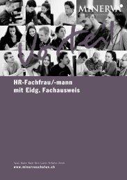 HR-Fachfrau/-mann mit Eidg. Fachausweis - Minerva