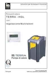 TERRA HGL - Istruzioni per la messa in funzione