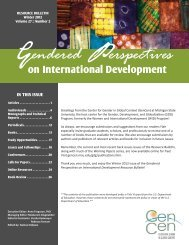 Winter 2012 Bulletin Vol. 27, Number 2 (PDF) - Center for Gender in ...