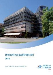 Strukturierter Qualitätsbericht 2010 - Ortenau Klinikum