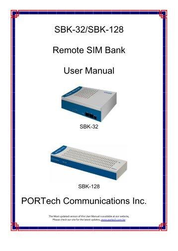 SBK-32 Remote SIM Bank User Manual PORTech ... - Portech.com.tw