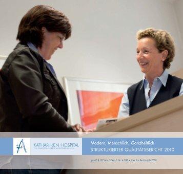 Strukturierter Qualitätsbericht 2010