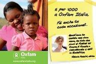 5 per 1000 a Oxfam Italia.