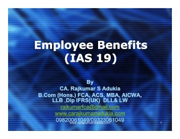Employee Benefits (IAS 19) - Actuarial Society of India