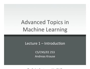 machine learning caltech