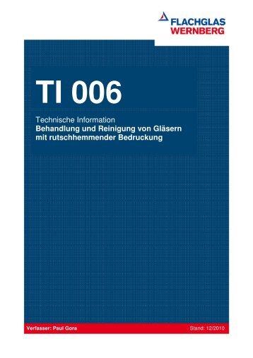TI 006 Behandlung von Gläsern mit Rutschhemmung