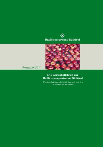 Ausgabe 2011 - Raiffeisenverband Südtirol