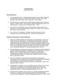 Publikationsliste (Stand: März 2009) Buchpublikationen 1. Und sie ...