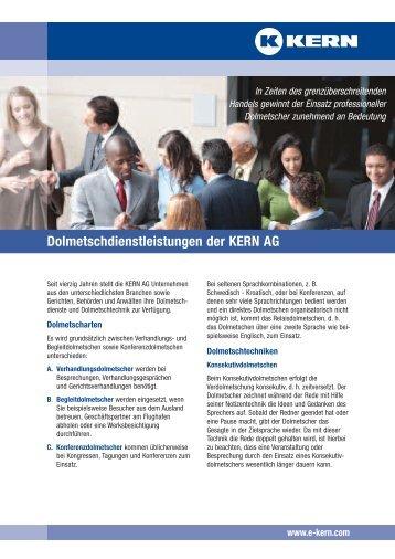 Dolmetschdienstleistungen der KERN AG