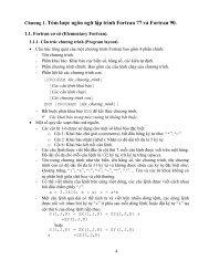 Chƣơng 1. Tóm lƣợc ngôn ngữ lập trình Fortran 77 và ... - Viện Vật lý
