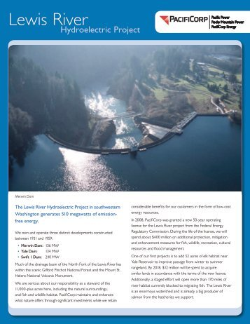 Lewis River Hydroelectric Project - PacifiCorp