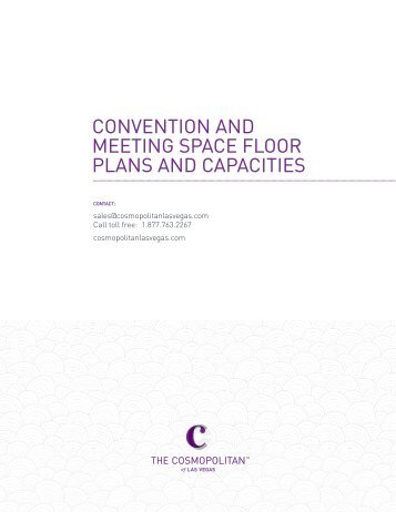 convention and meeting space floor plans and capacities - The ...