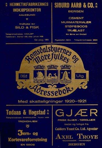 Adressebok 1920-21 - Romsdal Sogelag