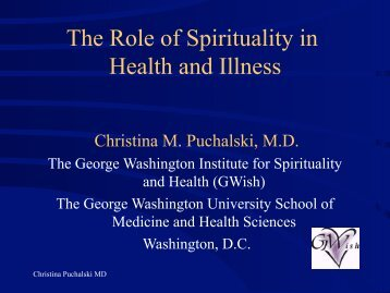 The Role of Spirituality in Health and Illness - Faith and Health ...