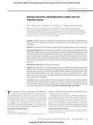 Disease Severity and Radioactive Iodine Use for Thyroid Cancer