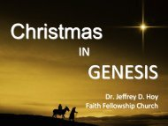At Christmas - Faith Fellowship Church