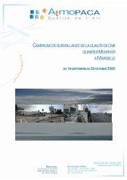 Campagne de surveillance de la qualité de l'air sur le ... - Atmo Paca