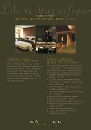 MEETINGS SOFITEL QUEENSTOWN HOTEL & SPA