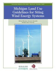 Michigan Land Use Guidelines for Siting Wind Energy Systems