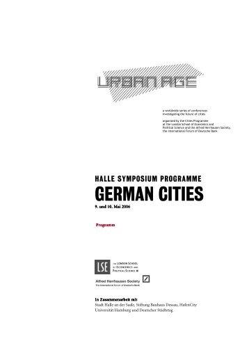 GERMAN CITIES - Alfred Herrhausen Gesellschaft