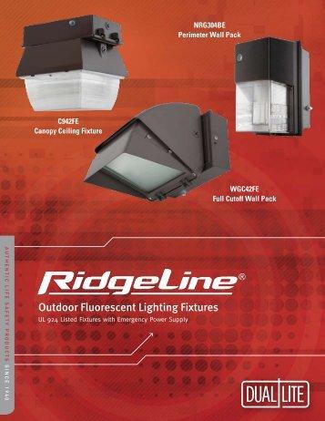 Outdoor Fluorescent Lighting Fixtures - Dual-Lite