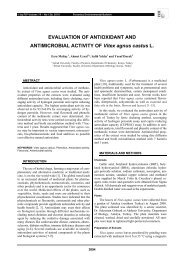 EVALUATION OF ANTIOXIDANT AND ANTIMICROBIAL ACTIVITY ...