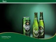 31.08.05 Carlsberg Asia Presentation.pdf - Carlsberg Group