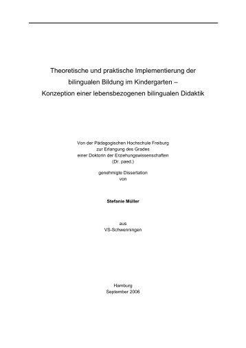 Theoretische und praktische Implementierung der bilingualen ...