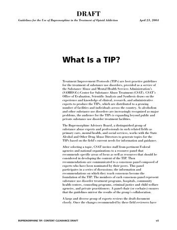What Is A TIP? - California Society of Addiction Medicine