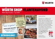 Würth shop klantenavond - Würth Nederland