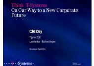 Think T-Systems On Our Way to a New Corporate Future - CMI.
