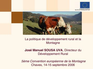 José SOUSA UVA, Directeur « Programmes de ... - Euromontana